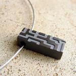 Titanium Circuit Bar Necklace