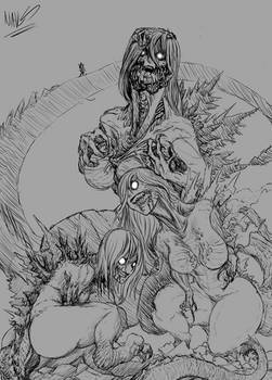 [sketch] Kaiju Girl #2 - Shin G