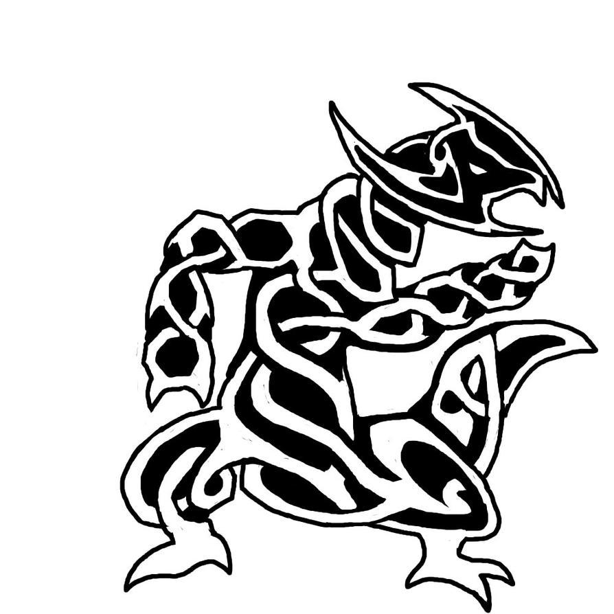 Haxorus coloring pages - Celtic Knot Haxorus By Porridgebeast