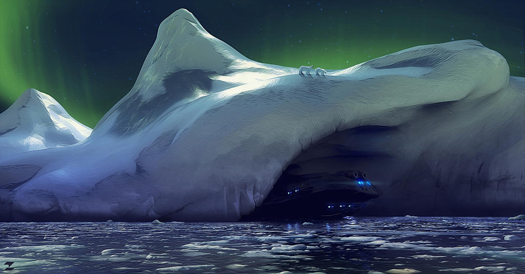 Antartica - secret entrance by DeviArTZ