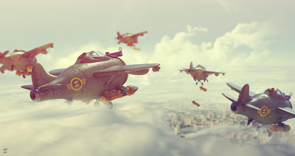 Bombers flock by DeviArTZ