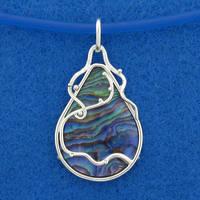 Deep Blue Pendant by harlewood