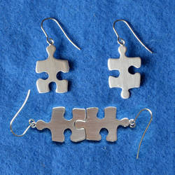 Jigsaw Earrings by harlewood