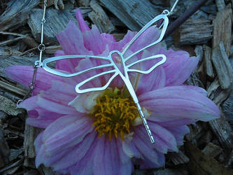 dragonfly necklace by harlewood