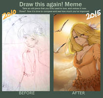 Draw this again meme - Sunrise by Kappy00