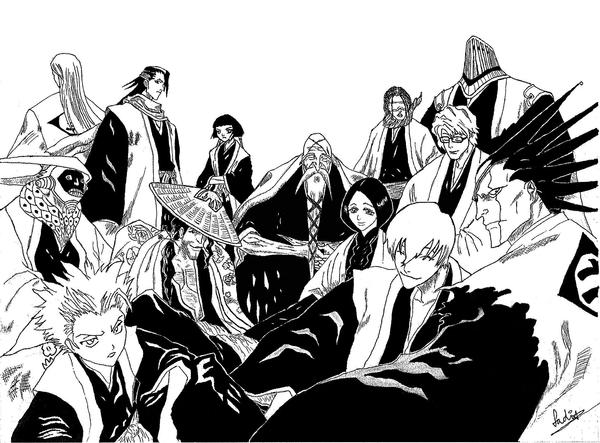 bleach captains by shuteye1990