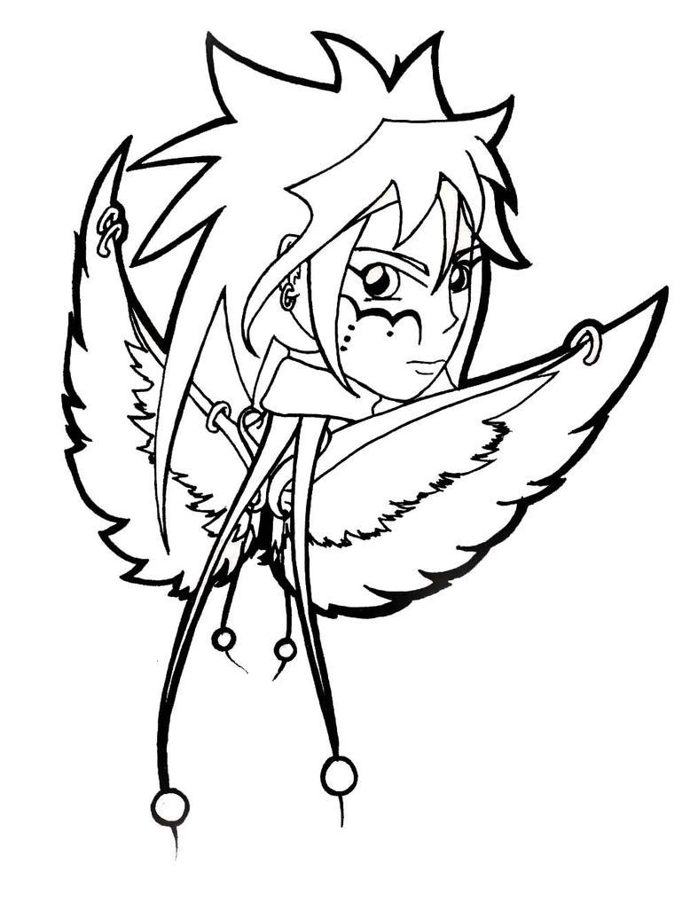 Line Art Angel : Angel line art by dreamangelkristi on deviantart