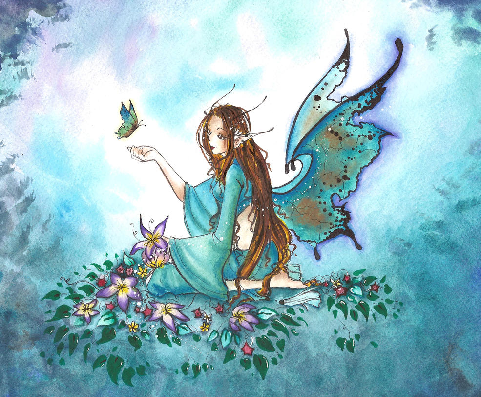 Tranquil Fairy by dreamangelkristi