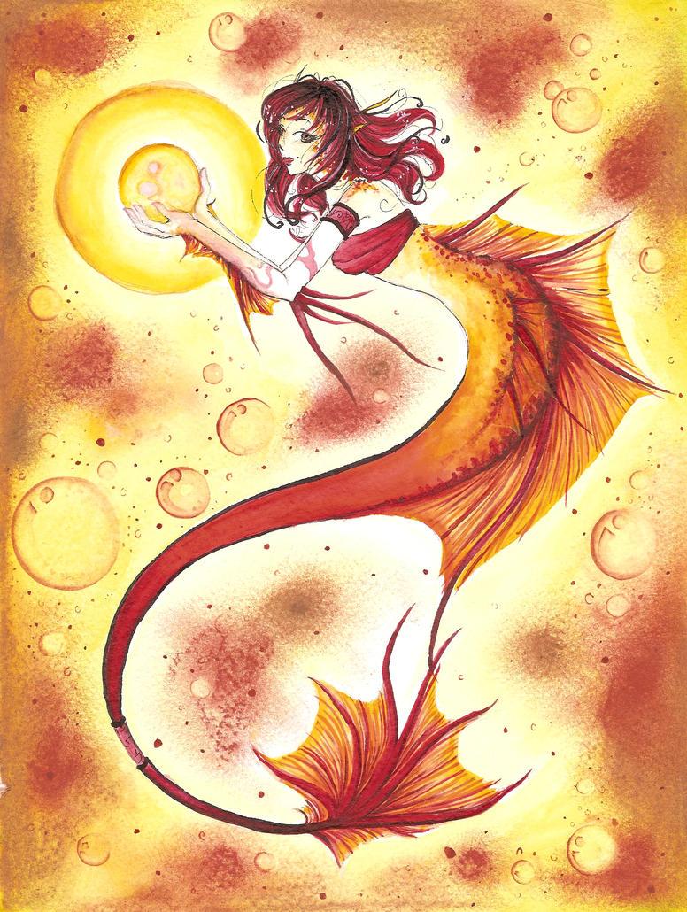 Summer Pearl Mermaid by dreamangelkristi