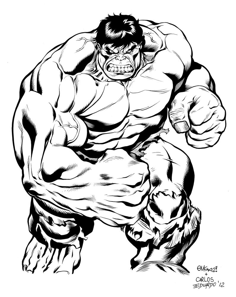 Hulk Comission  Inks by Nanquilizador on DeviantArt