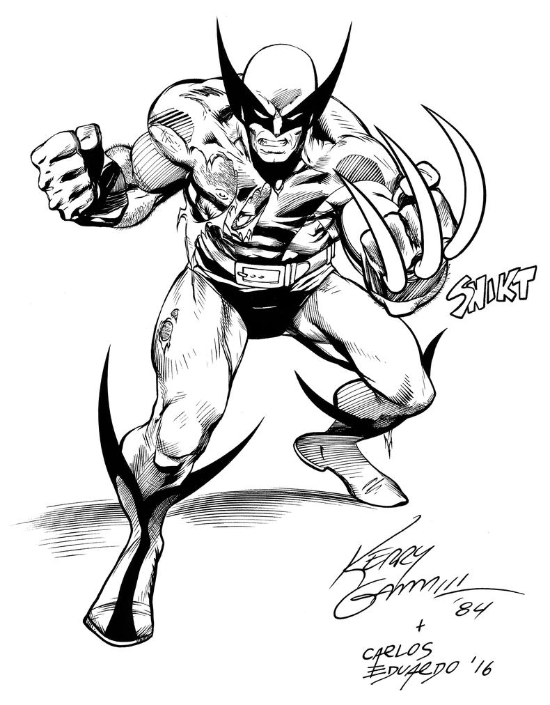 wolverine KGammil inks by Nanquilizador