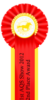 1st AQS Show 2012 2nd Place Ribbon