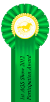 1st AQS Show 2012 Participation Ribbon