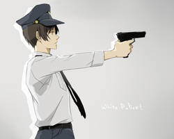 White police by CATGIRL0926