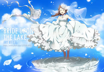 Bride upon the lake