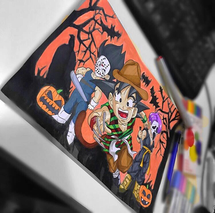 Halloween Dragon Ball Z by ally6sixx