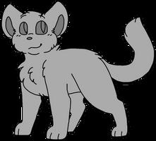 F2U Cat Lineart