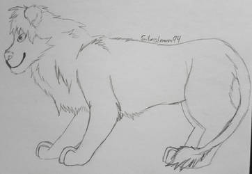 Just a Lion by Hawkpelt94