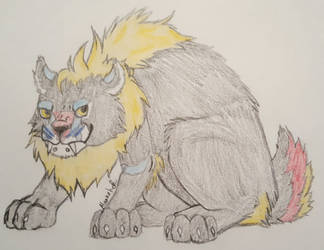 Eli the Panther x Mandrill beast by Hawkpelt94
