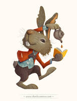 Wonderland of Books - March Hare by minitreehouse