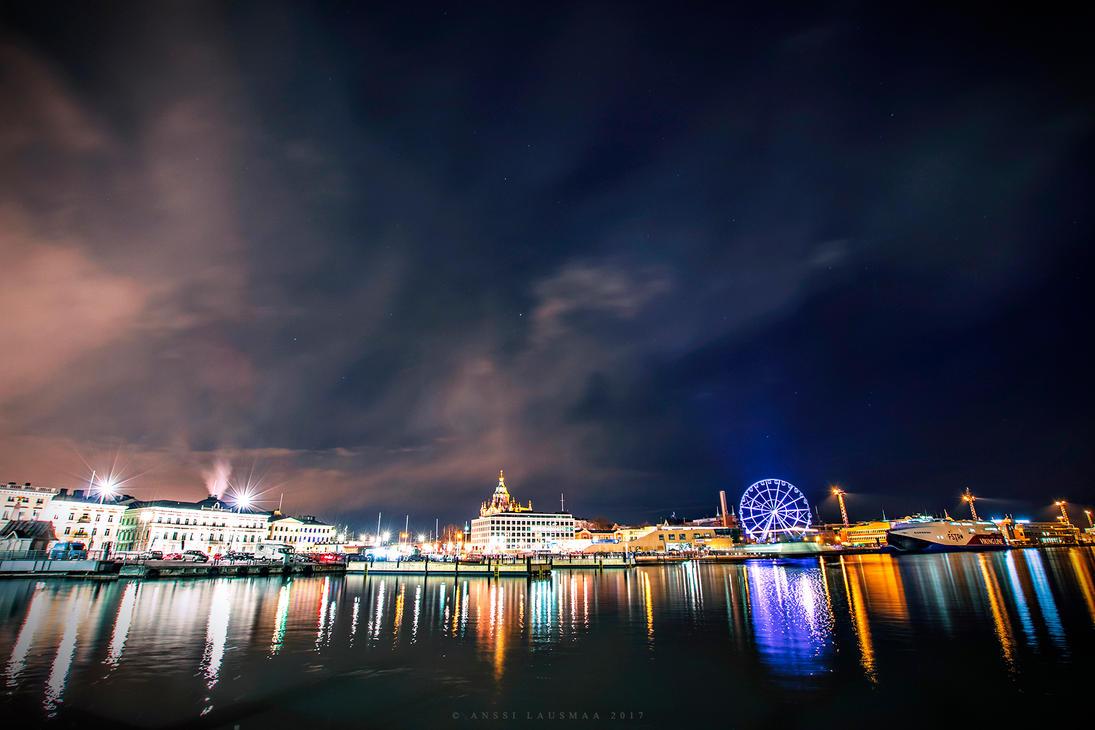 Lights of Helsinki by v4nssi