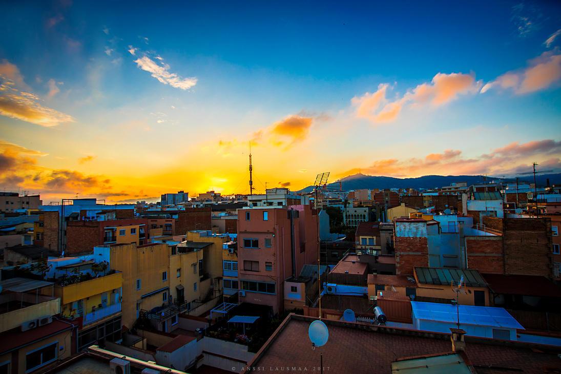 Barcelona Sunset by v4nssi