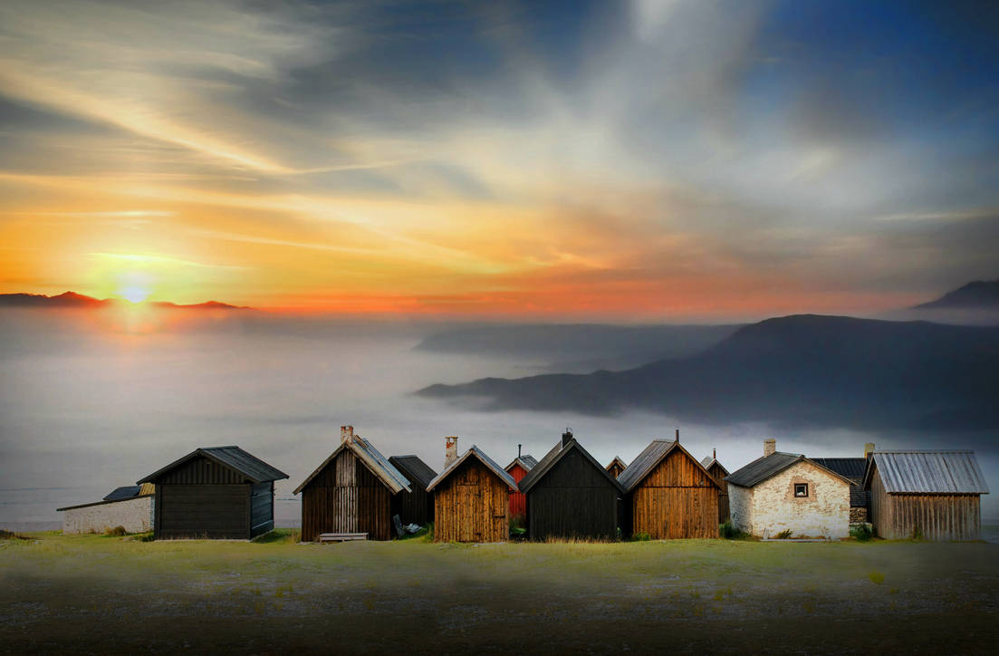 The huts with a view by suzannerowcliffe