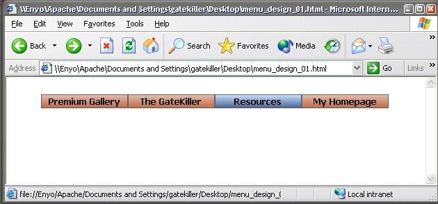 GateKiller.co.uk Menu Design 1 by gatekiller