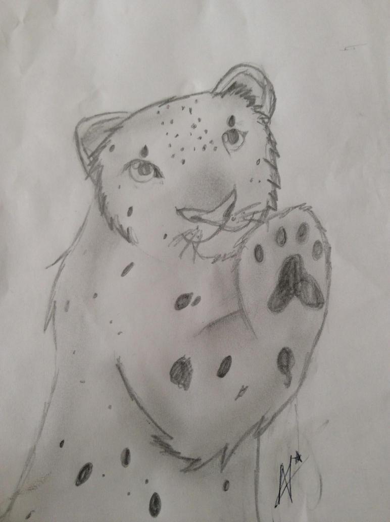 El taller de Nya ~Recoloraciones y dibujos~ Snow_leopard_by_nyot_leo-d88devl