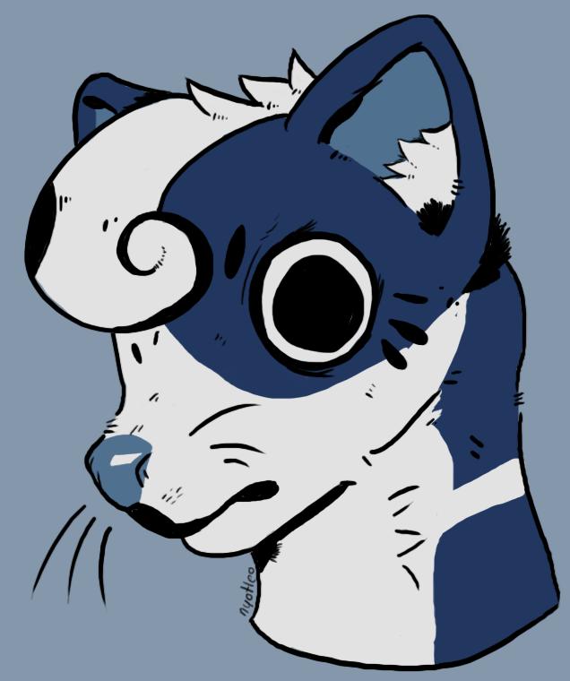 .:Dibujos de Nya:. - Página 2 Skunk_by_nyotleo-dbxfbmm