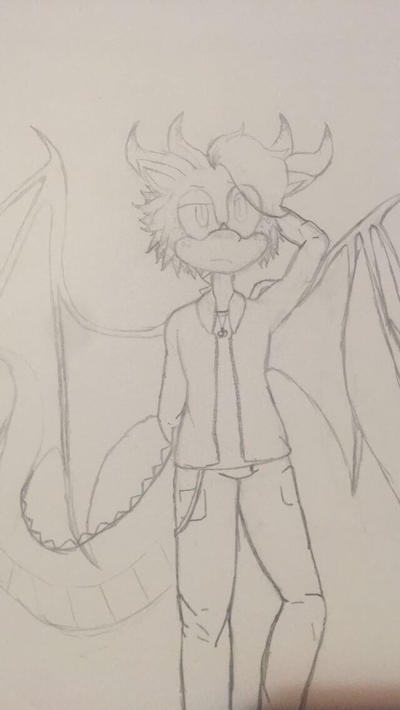 Jamison the dragon (sketch) by LetTheShipsHappen