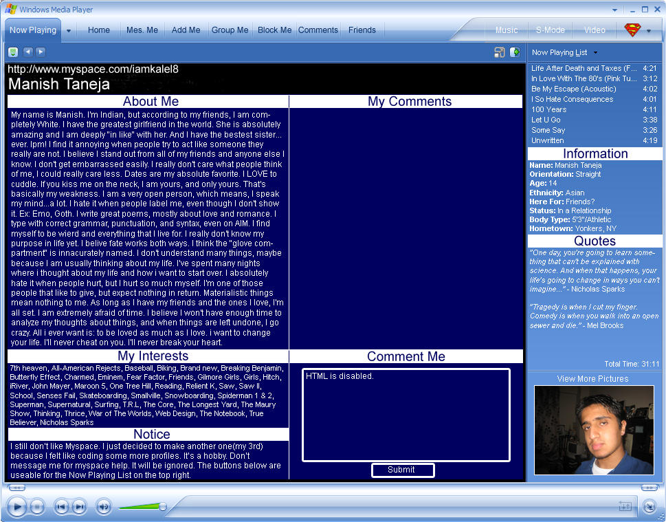 Windows 'MySpace' Media Player by superman57