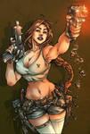Lara Croft colored
