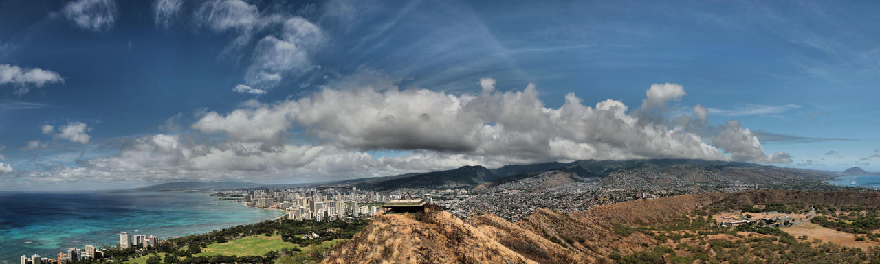 Diamond Head Oahu by ToeTag