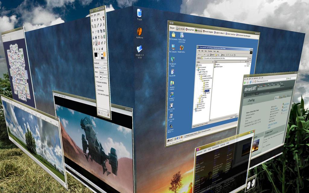 Fedora Core 6 - Beryl-KDE