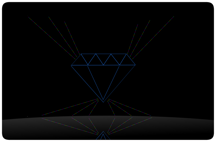 Diamond Outline Png Laptop Skin Diamond Outline by