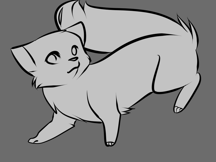 Free ferret lineart by capukat on deviantart for Ferret coloring pages