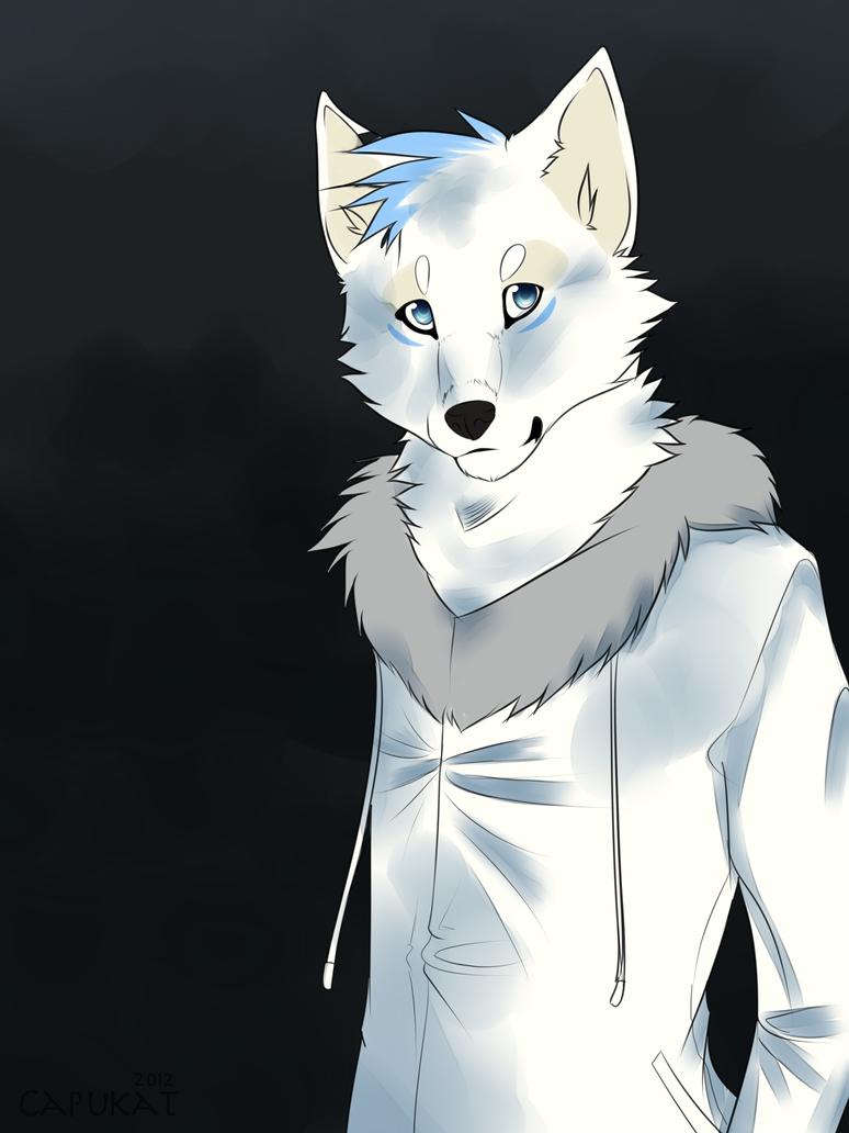 Anthro Arctic Wolf Anthro AT by Capukat