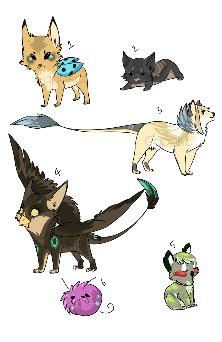 CLOSED Assorted adopts by Capukat