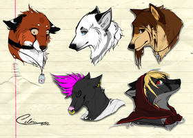 Sketchy Headshot Commissions + Personal Headshots by Capukat