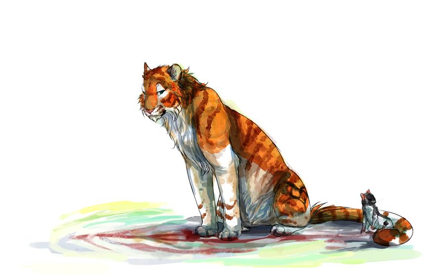 Digital Watercolor fullbody commission by Capukat