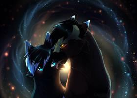 Stars collide by Capukat