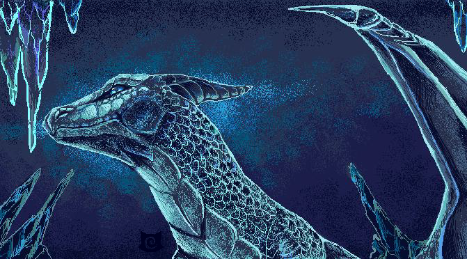 MS Paint Drawing Challenge: Ice Dragon+SPEEDPAINT! by Capukat