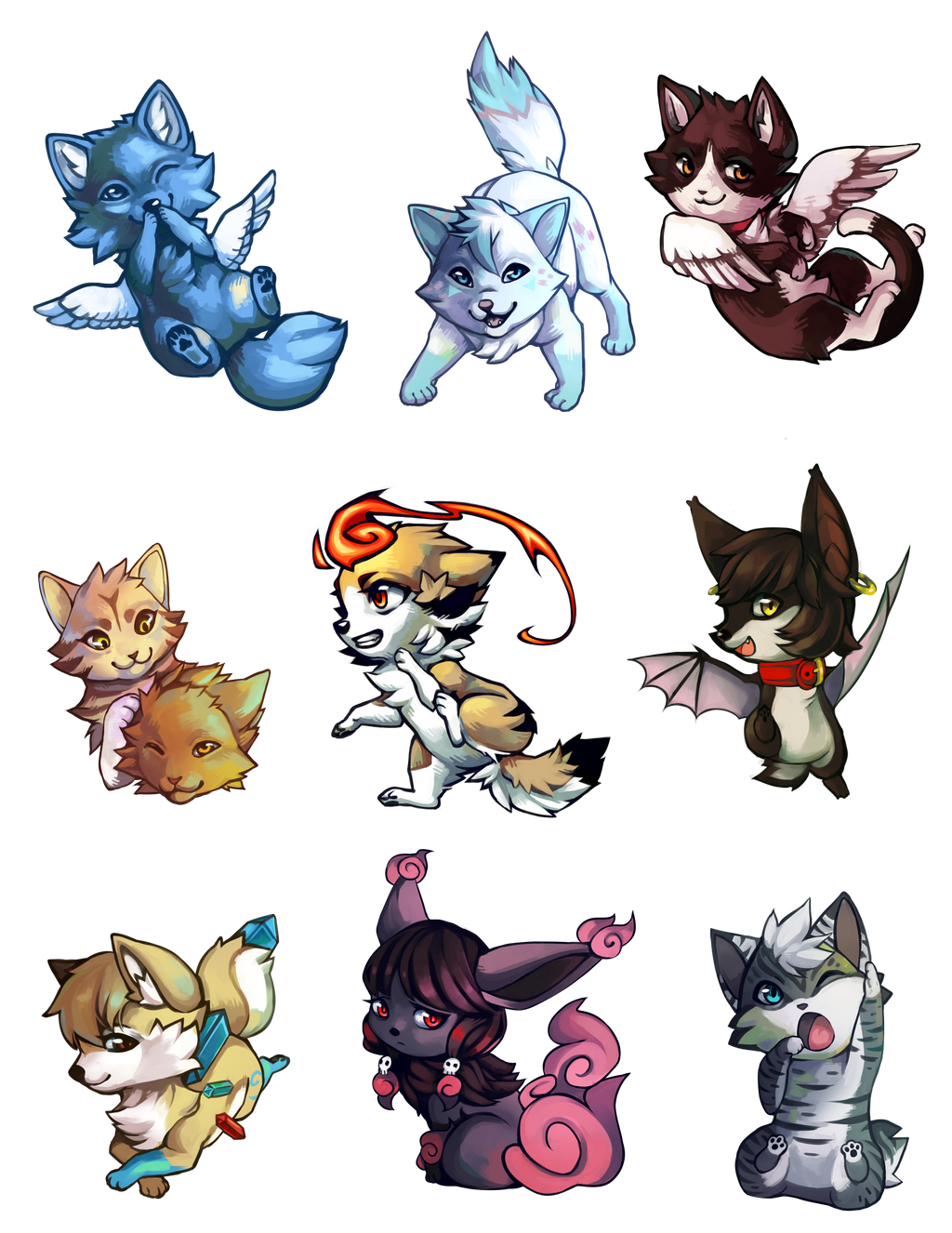 Charm Commissions by Capukat