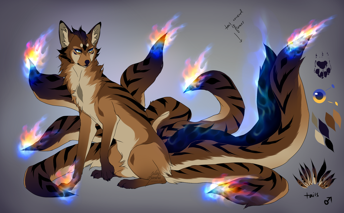 CLOSED: Flame-tailed Fox Auction by Capukat