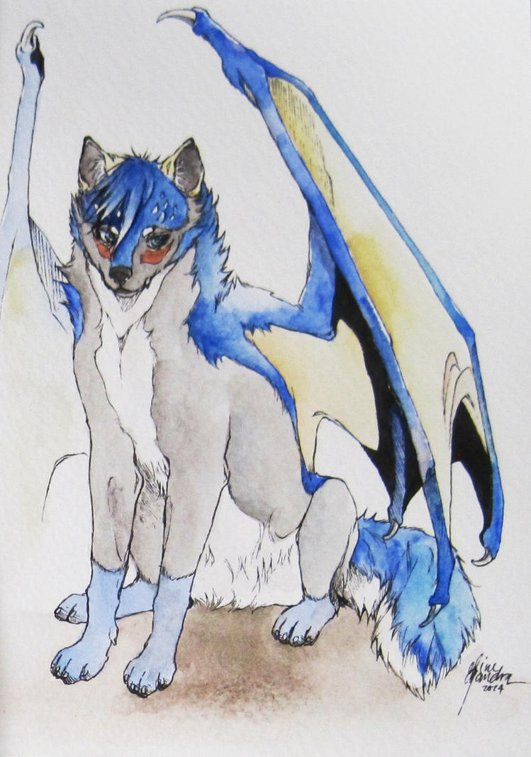 Watercolor Postcard Commission by Capukat