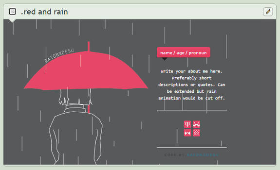 [ CB ] Red and Rain Code - gif BG