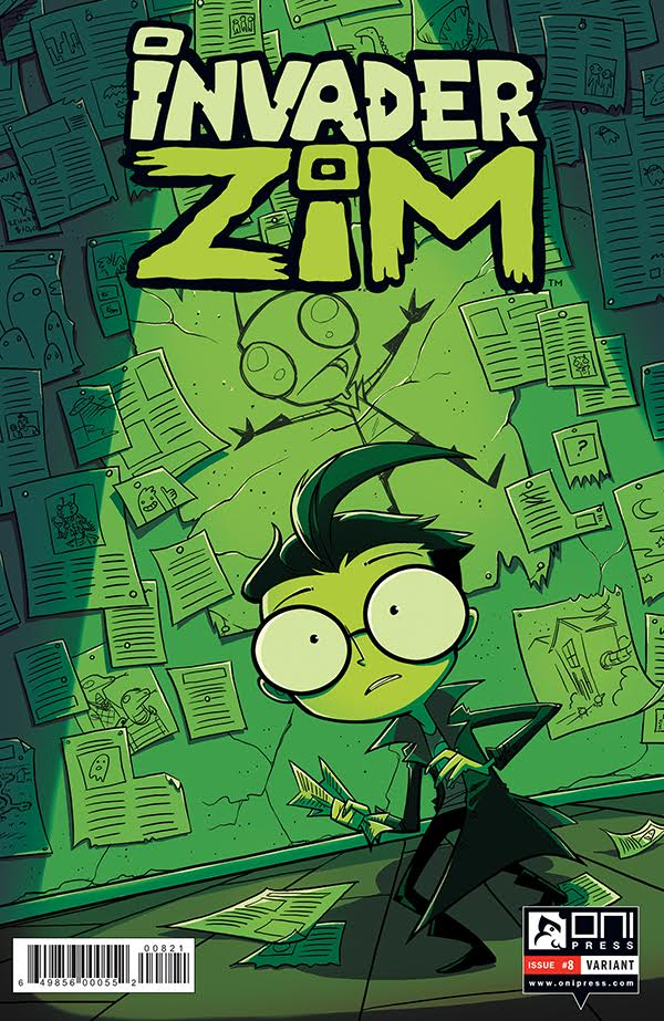 INVADER ZIM 8 Variant Cover by DIN0LICH
