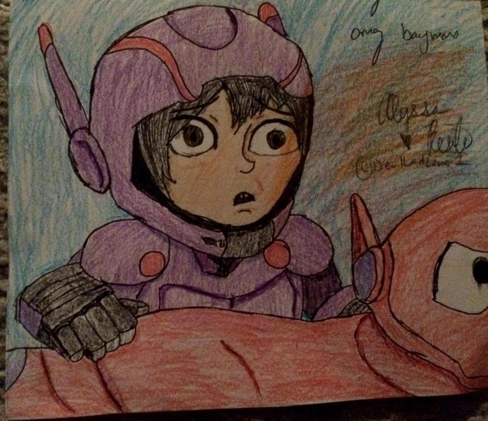 Hiro and Baymax by DevilLadLover1