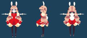 3D cute Bunny-girl model
